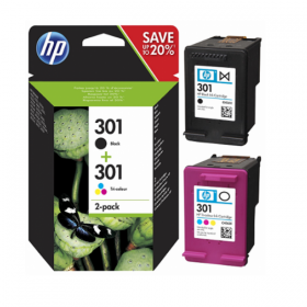 N9J72AE HP 301 Combo 2-Pack Original Ink Cartridge